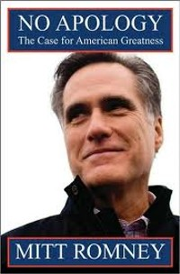 Mitt Romney, looking at something more interesting than his book.