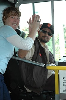 Miuni passenger and driver in happier times
