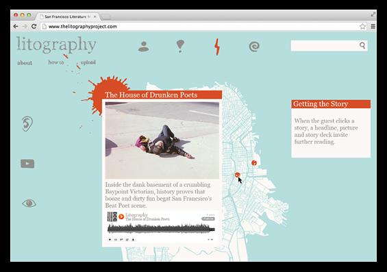 mockup of selected story screen
