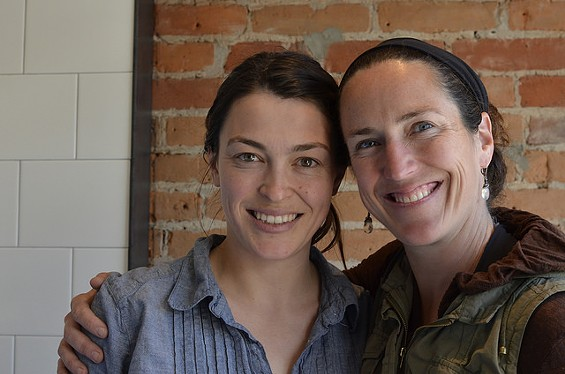 Molly Best, left, and Lisa Modica of Thistle Meats. - ALICE DISHES
