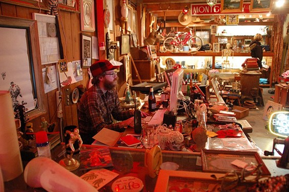 Moody in his junk shop, The Anne Bonny