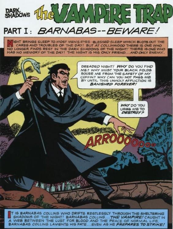 Moody vampire Barnabas Collins - JOE CERTA
