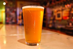 KEVIN HENDERSON - Moonlight Brewing's Reality Czeck pilsner, on tap at Toronado.