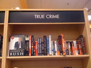 Moving books around, however is not a crime.