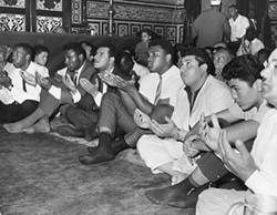 Muhammad Ali in Cairo in June 1964, four months after changing his name from Cassius Clay.
