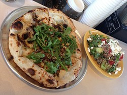 TREVOR FELCH - Mushroom pizza and grain salad