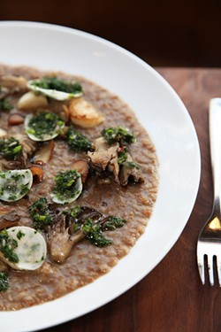JUAN PARDO - Mushroom porridge at mid-Market's new Alta CA.
