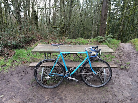 My bike on its last hurrah in Portland's Forest Park.