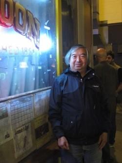 Myron Mu outside the Saloon.