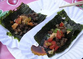 Namu's ssam (aka Korean tacos): Coming to the absurdly named SF Blu. - J. BIRDSALL