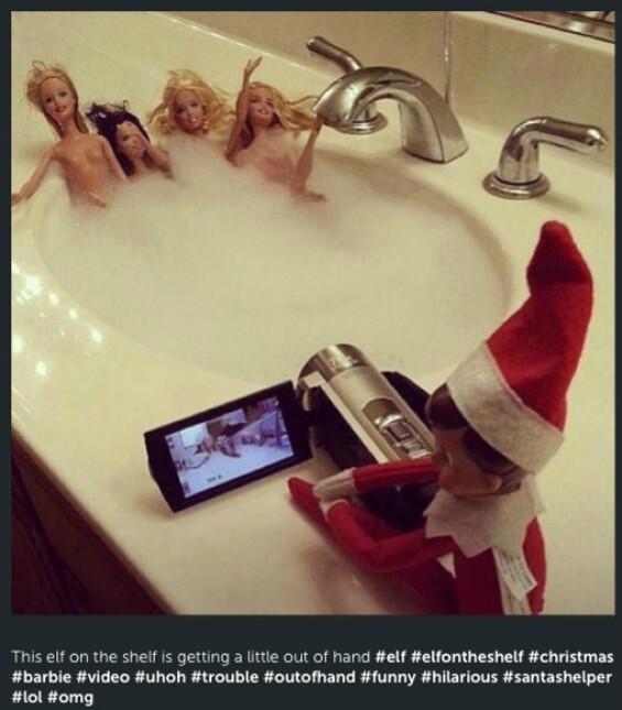 Naughty Elf on the Shelf and the girls gone wild. - @JAXXTHENAUGHTYELF