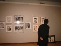 Neil Gaiman at the exhibit - COURTESY OF THE CARTOON ART MUSEUM