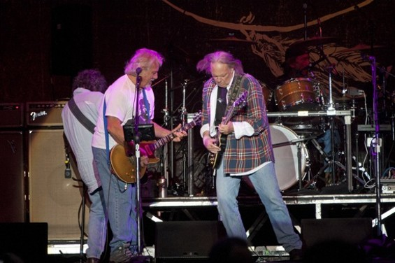 Neil Young and Crazy Horse rocking out at Outside Lands - CHRISTOPHER VICTORIO