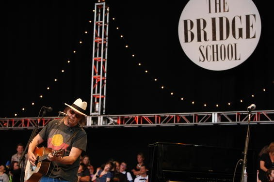 Neil Young at the Bridge School Benefit. Photo by Christopher Victorio.