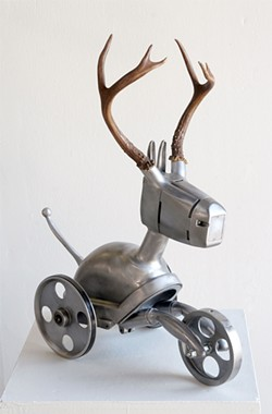 NEMO GOULD - Nemo Gould used found objects like a bandsaw to create Impala.