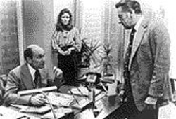 SIDNEY LUMET/WARNER BROS - Network-ing: William Holden (right) - faces off with Robert Duvall and  Faye - Dunaway.