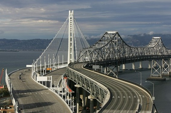 New Bay Bridge comes early - MIKE KOOZMIN/SF EXAMINER