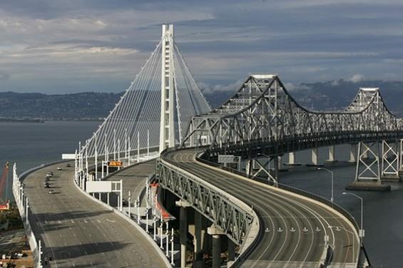 New Bay Bridge comes early - MIKE KOOZMIN/SF EXAMINER