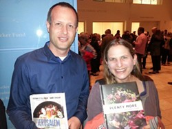 Yoav Eilat has known Yotam Ottolenghi since high school. Here he waits to get his book signed with Alix Wall.