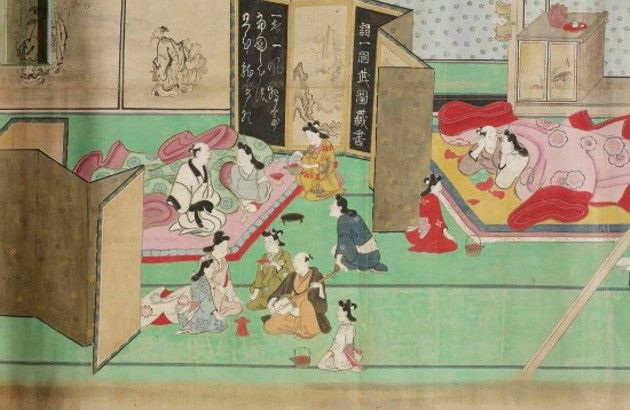 A Visit to the Yoshiwara detail - COURTESY OF THE ASIAN ART MUSEUM