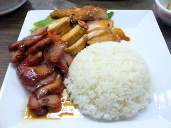 New Moon's Monday special combo: soy sauce chicken and roasted pork. - JONATHAN KAUFFMAN