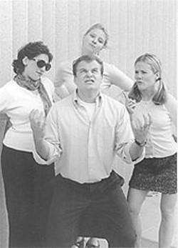 MIA  LOBEL - Nick Hoffa, with Mia Lobel, Arwen Anderson, and Aime Barile.