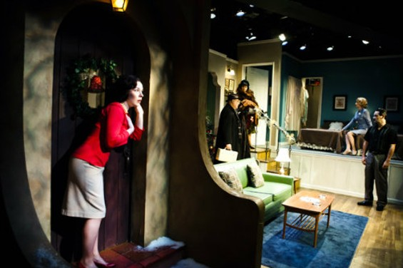 Nina Ball's canny set design for Period of Adjustment at SF Playhouse went Picasso on the floorplan of a suburban home to maximize both space and aesthetic appeal. - JESSICA PALOPOLI