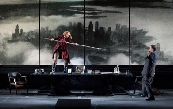 Nina Stemme (as Brünnhilde) and Mark Delavan (as Wotan) - CORY WEAVER