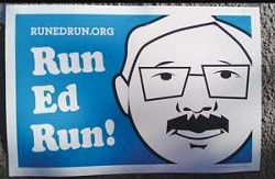 Nine people are running Run, Ed, Run