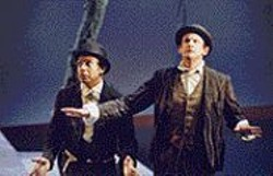 KEVIN  BERNE - No Foolin': Gregory Wallace (as Estragon, - left) and Peter Frechette (as Vladimir) make - convincing clowns.