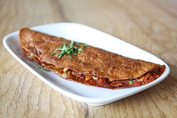 Nopalito's quesadilla roja, $9. - KEVIN HENDERSON/SFOODIE