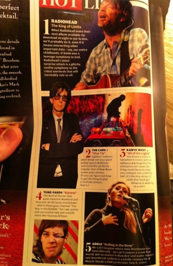 'NorCal hipster fave' (ugh) appears in Rolling Stone's March 17 Hot List.