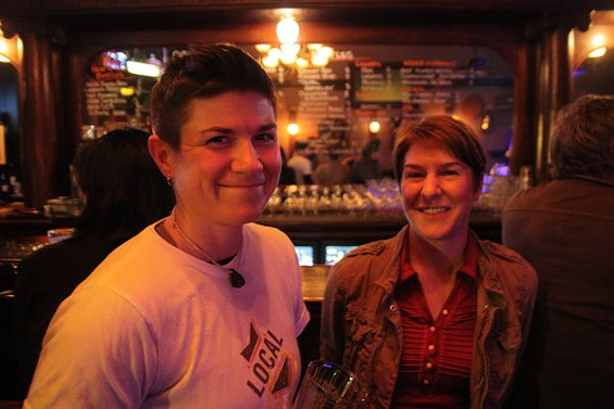 Not an indie punk duo, but S.F. gypsy brewers: Local Brewing Co.'s Regan, left, and Sarah. - DAVID GUMBINER