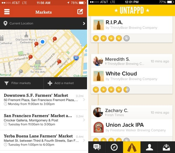 Now we can find the nearest brewery next to the nearest farmers market. Thanks technology! - FARMSTAND, UNTAPPD