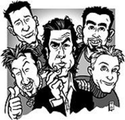 MARK  POUTENIS - *NSYNC enlists Nick Cave so the band can buy - alcohol legally.