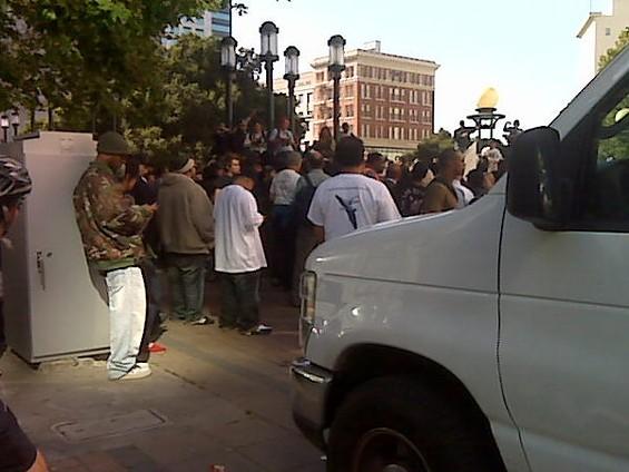 Oakland, 12th and Broadway - TWITTER.COM/OAKLANDRIOTS