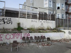 Occupiers were either planning to sit in the chairs or throw them at cops ... one of the two - COURTESY OF SFPD