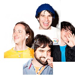 Odd indeed: A band that actually smiles in its promo photos.