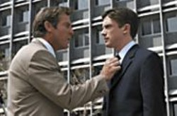 GLEN  WILSON - Of Mice and Men: Dan (Dennis Quaid) teaches Carter - (Topher Grace) a few things about adulthood.