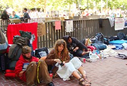 Officials maintain the decision to evict Occupiers was from City Hall, not Washington.