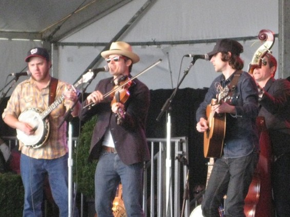 Old Crow Medicine Show at the Warren Hellman public celebration.