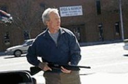 MERIE W. WALLACE - Old Man With a Gun: Local boy Clint Eastwood.