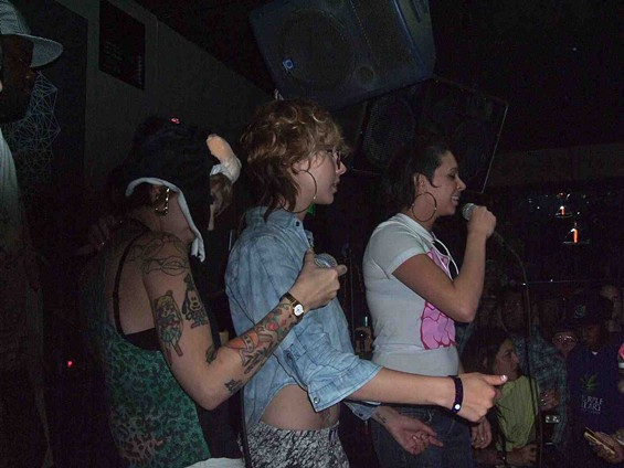 On stage with White Girl Mob at the San Francisco debut on May 27, 2011. - TAMARA PALMER