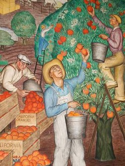 PHOTO BY COLROS/FLICKR - One of Coit Tower's many murals.