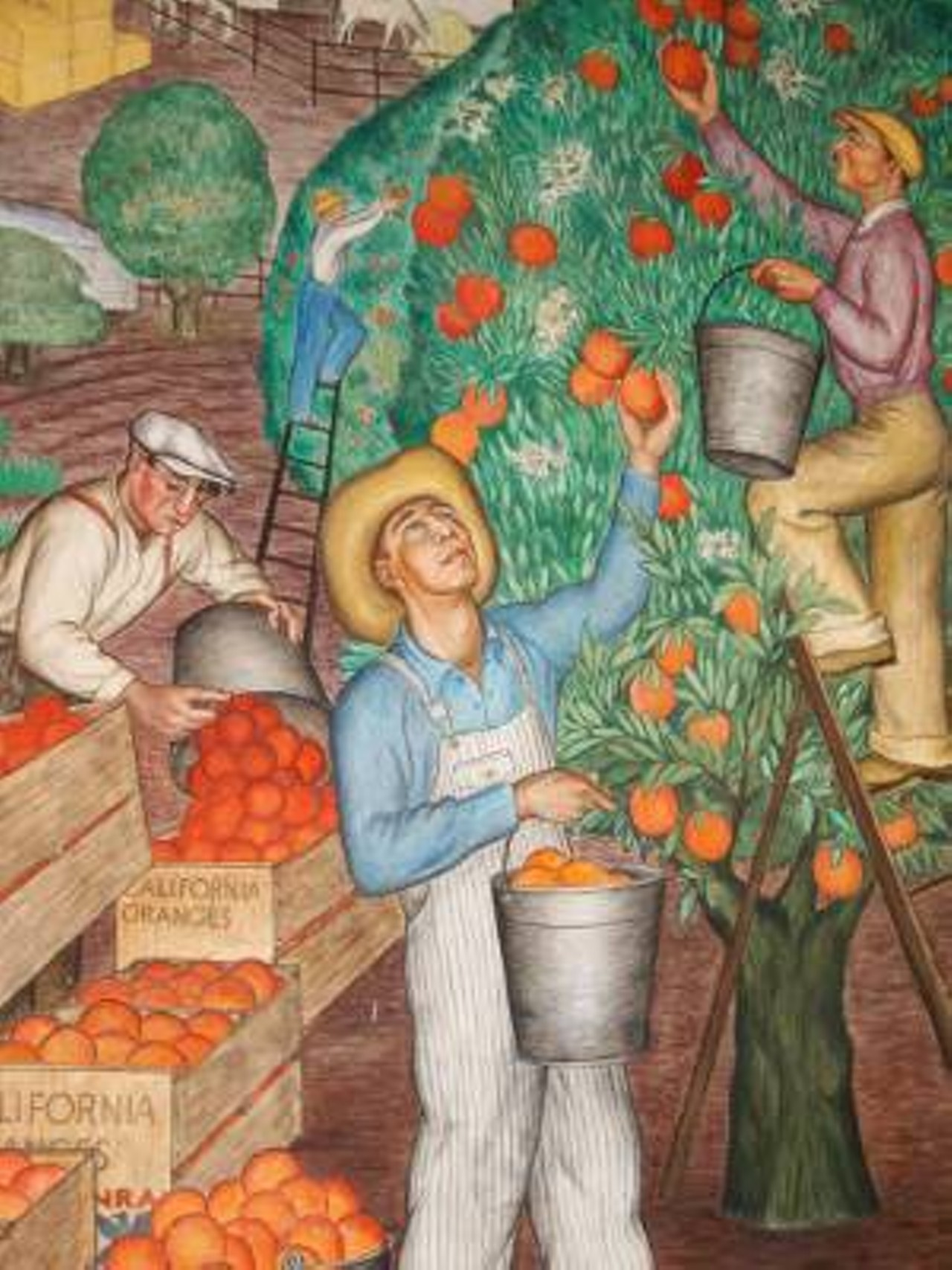 Guided tours of coit tower murals coit tower history for Coit tower mural