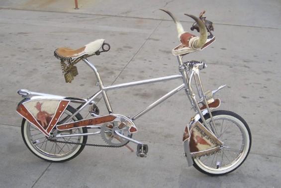 One of Slimm Buick's incredible art bikes.