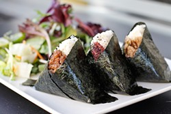 ANNA LATINO - Onigiri, little packets of brown rice and flavorful fillings, make for a delicate lunch.