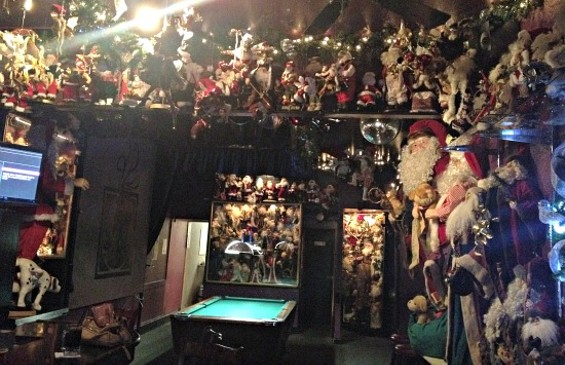 Only a small portion of the Santa collection at Marlena's. - ANNA ROTH