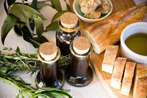 Organic, basil-flavored Rosemary Jane olive oil from Seventh House. - MOLLY DECOUDREAUX/SEVENTH HOUSE