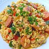 "Orzo ""Risotto"" with Chicken, Sausage and Peppers"